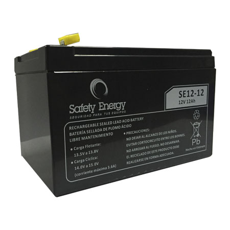 Batería Gel Safety Energy 12V 12Ah