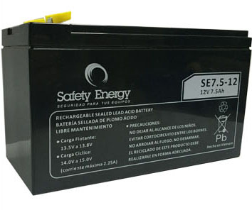 Batería Gel Safety Energy 12V 7.5Ah