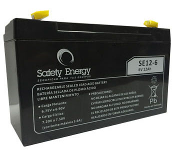 Batería Gel Safety Energy 6V 12Ah