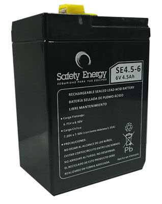 Batería Gel Safety Energy 6V 4.5Ah