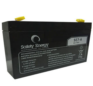 Batería Gel Safety Energy 6V 7Ah
